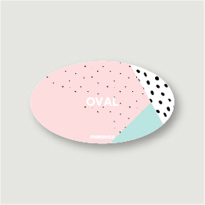 Oval Shape Business Card