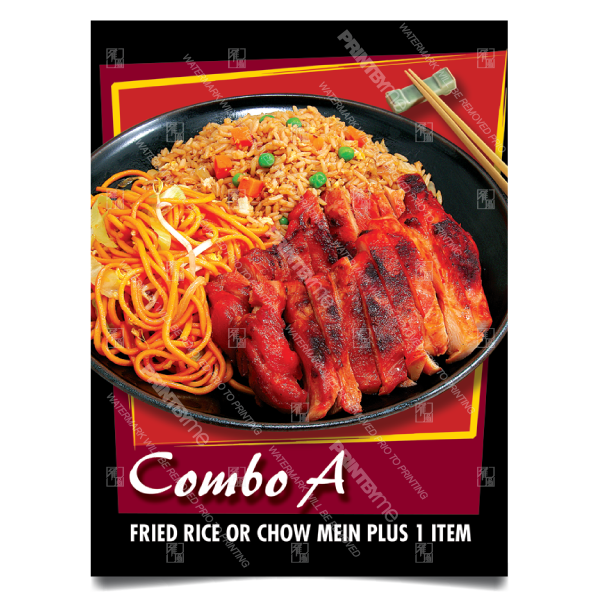 CF-001 Chinese Food 2 Item Combo Poster