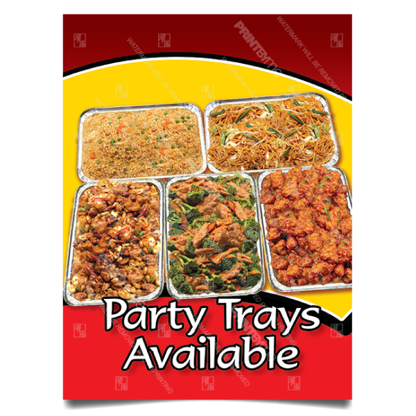 mc001 party trays poster